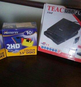 Usb floppy drive+дискеты