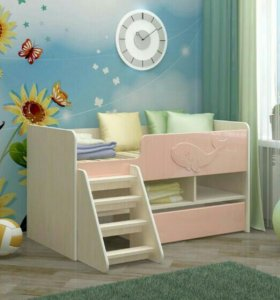 Кровать розовая юниор3
