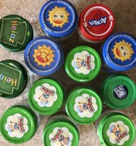 Баночки от детского питания бесплатно.