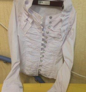 Белая блузка 8-10 лет