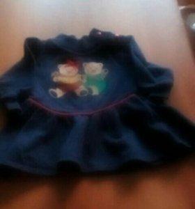 Теплое платье на годик
