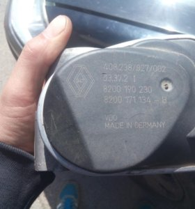 Заслонка дроссельная Renault Megane  (8200190230)