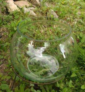 аквариум круглый с подставкой