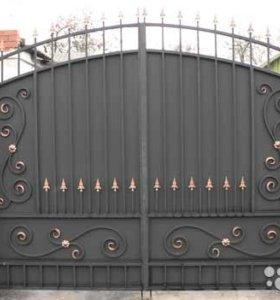 Ворот, заборы. навесы