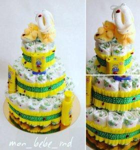 Торт из памперсов (подгузников)