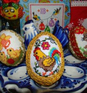 Яйцо пасхальное вышивка крестиком