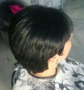 Кератиновое выпрямление волос, ботокс, полировка