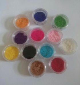 Флок для дизайна ногтей (набор 12 цветов)
