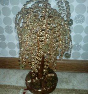 Денежное дерево (собственного плетения)