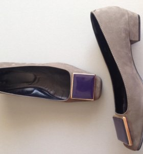 туфли замшевые пр-во Италия