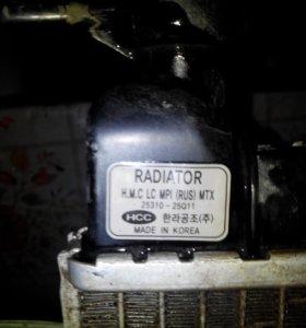 Радиатор hyundai accent