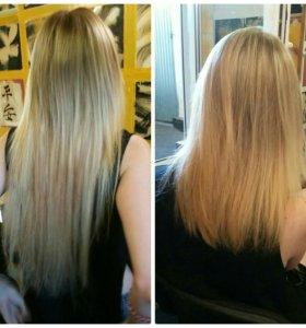 Наращивание волос. Полировка