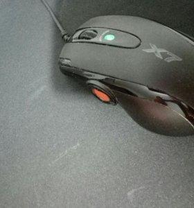 Игровая мышь a4tech x-7