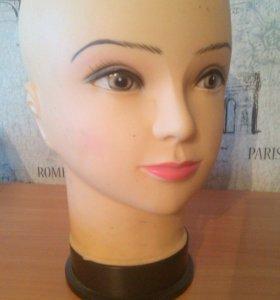 манекен- голова (женский) для головных уборов
