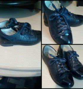 Школьные туфли на осень