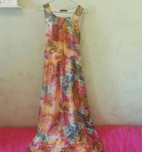 Летнее длинное платье, новое