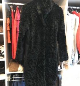 Тёплое меховое пальто стриженного кролика