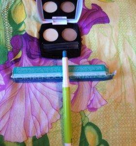 Тени для бровей и карандаш для глаз