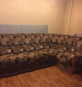 Мягкий угловой диван - трансформер