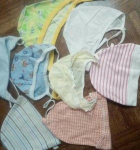 Вещи на малыша пакетом 0-3 месяца