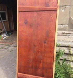 Дверь из массива сосны состаренная