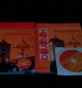 Учебник,тетрадь и диск по немецкому