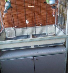 Клетка для птиц пиано 6 с подставкой