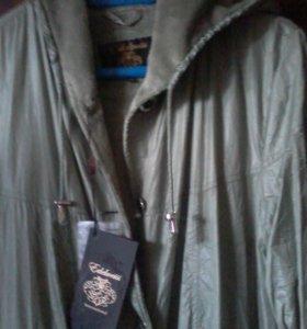 Женский новый плащ--пальто на флисовой подкладе
