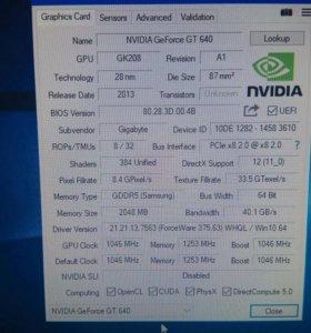 Nvidia Geforce gt 640 2 gb ddr5