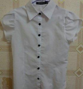 блузка школьная х/б