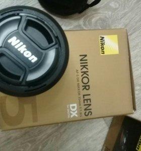 Nikon D3200 18-55 mm Kit +объектив Nikkor 35mm
