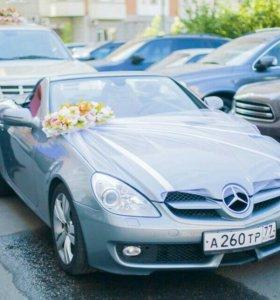 Свадебные украшение на авто.
