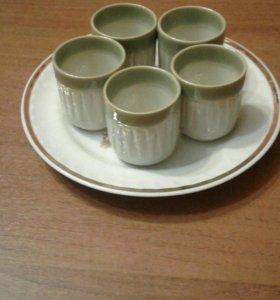 Рюмки керамические