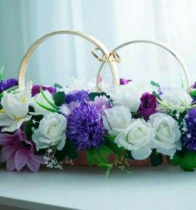 Кольца на свадебную машину АРЕНДА