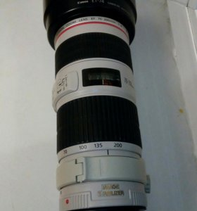 Canon 70-200mm F4 L IS USM +бленда