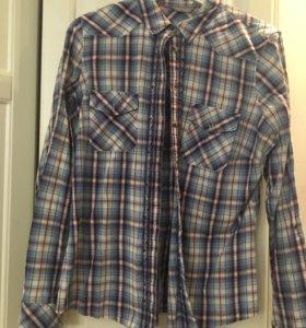 Рубашка в клетку 46-48 L/M