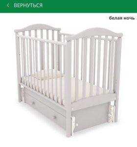 Детская кроватка Гандылян + матрас + бортики