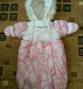 Зимний конверт Malek Baby. 68 размер.