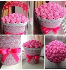 Топиарий цветы подарки uzhan