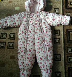 Зимний комбинезон Baby go, 74 размер.
