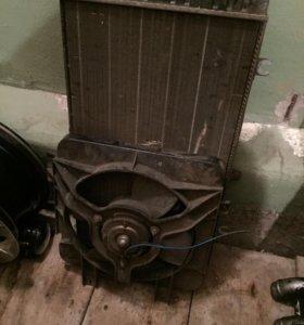 Радиатор с вентилятором от ваз 2110-12 и приоры