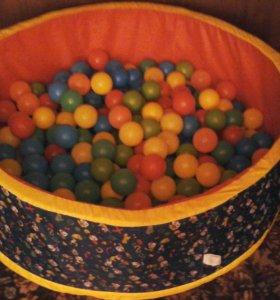 Детский развлекательный бассейн с шарами -250 шт.
