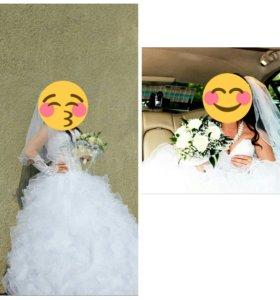 Продам платье свадебное с перчатками