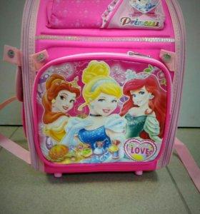 Детский Ортопедический Рюкзак с принцессами