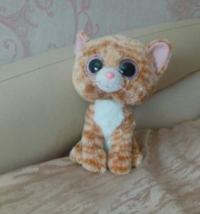 Пучеглазик . Мягкая игрушка в виде рыжего кота