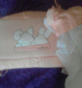 бортики и балдахин вдетскую кроватку.
