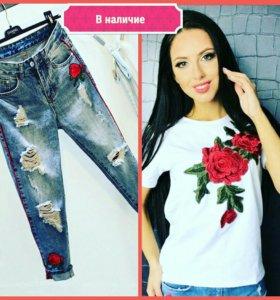 Комплект футболка + джинсы