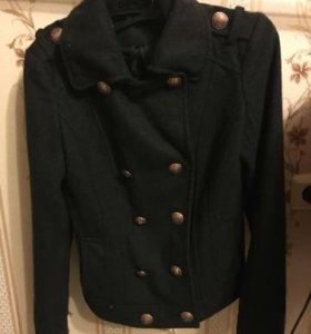 Модное драповое полупальто куртка р-р 42-44