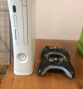 Xbox 360+Kinect+игра к нему