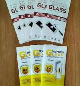 Защитные стекла на iPhone, чехлы